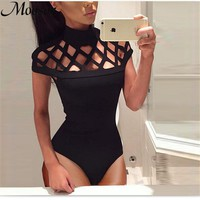 2017 Sexy Bodysuit Women New Fashion Body Feminino Overalls Bodycon Jumpsuit Playsuit Casual Rompers Womens Jumpsuit WD464