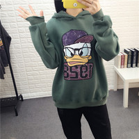 Fashion Loose Print Pattern fleece