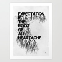 The Root of All Heartache Art Print by fariedesign