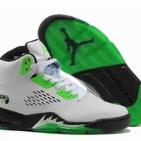 Cheap Nike Air Jordan 5 Retro Men Shoes White Green