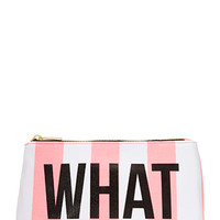 FOREVER 21 Whatever Makeup Bag Pink/White One