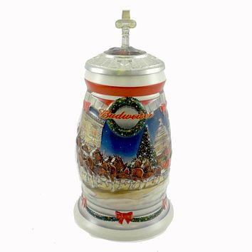 Anheuser-Busch HOLIDAY AT THE CAPITOL STEIN Ceramic Budweiser Christmas CS455SE