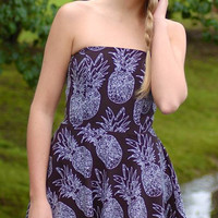 Keep It Short and Sweet Pineapple Dress