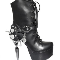 Hades 'Envy' Black Ankle Boot