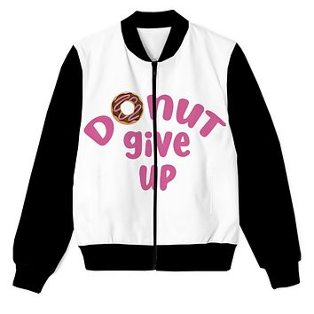 Donut Give Up - You got this! Men's Zip Up Jacket