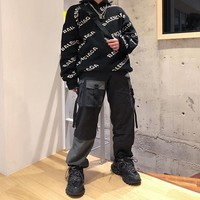 kuyou Dickies overseas edition split color cargo pants