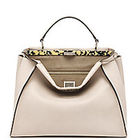 Fendi - Peekaboo Large Tortoise-Accented Satchel - Saks Fifth Avenue Mobile