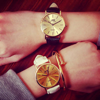 Comfortable Vintage Fashion Quartz Classic Watch Round Ladies Women Men wristwatch On Sales = 4662235588