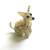 Chihuahua Glass Beaded Dog Sculpture