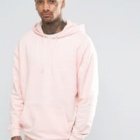 ASOS Oversized Hoodie In Pink at asos.com