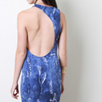 Women's Asymmetrical Back Grunge Dress