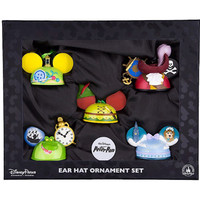 Disney Parks Holiday Peter Pan Set of 5 Ear Hat Ornament Maher New with Box