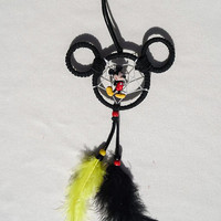 Disney Mickey Mouse dreamcatcher/ small/ black suede