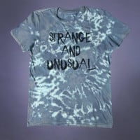 Weird Shirt Strange And Unusual Slogan Tee Emo Goth Grunge Alternative Clothing Punk Acid Wash Tumblr T-shirt