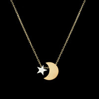Stainless Steel Moon Necklace