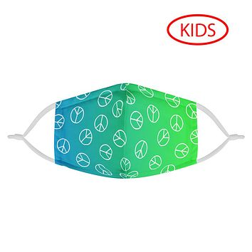 GREEN PEACE SIGNS - KIDS MASK WITH (4) PM 2.5 CARBON FILTERS