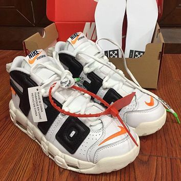 Nike Air More Uptempo X OFF-White Men Sneakers Sports Basketball Shoes