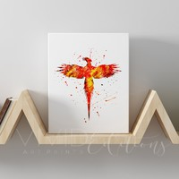 Harry Potter Phoenix Gallery Wrapped Canvas