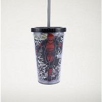 Quote Running Deadpool Marvel Cup With Straw 16oz - Spencer's