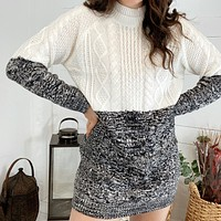 Two Faced Mixed Knit Dress by MINKPINK