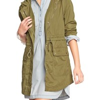 Old Navy Womens Long Hooded Anoraks