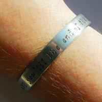 With You Til The End of The Line Hand Stamped Bracelet - Captain America Jewelry The Winter Soldier Stucky Bracelet