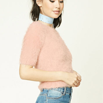 Fuzzy Faux Mohair Sweater