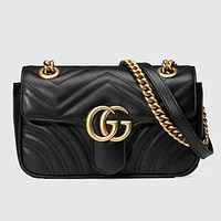 Gucci Leather Satchel Crossbody Shoulder Bag