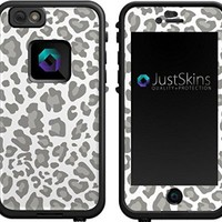 Silver Leopard Print Skin Decal for iPhone 6 Lifeproof Case Design (Case not included)