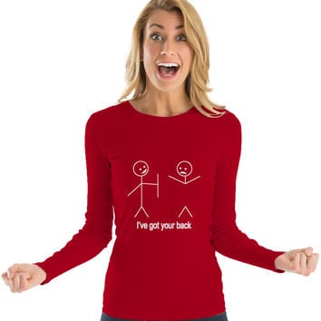 Women's Long Sleeve T-Shirt 'I've Got Your Back'
