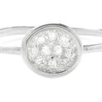 Sterling Silver Diamond Pavé Puddle Ring, Stone & Novelty Rings