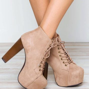 Rosa Booties - Taupe