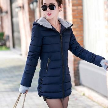Winter Cotton Hooded Jacket