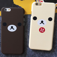 Cute Bear iPhone 5s 6 6s Plus creative case Gift-98