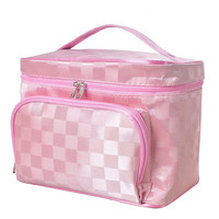 Korean Large Cosmetic Bag Makeup Organizer Box Case Beauty Vanity Cosmetic Case Boxes Travel Wash Makeup Storage Cosmetic Cases