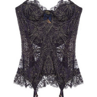 Agent Provocateur|Cordeliyah embroidered lace basque