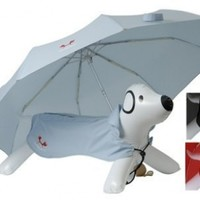 Petego United Pets Easy Drops Pet Umbrella and Coat Set, Light Blue, 33 Inches by 19 Inches