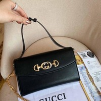 Gucci Zumi Smooth Leather Small Shoulder Bag #1820