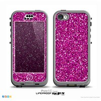 The Bright Pink Glitter Skin for the iPhone 5c nüüd LifeProof Case