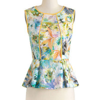 Make an Impressionist Top | Mod Retro Vintage Short Sleeve Shirts | ModCloth.com