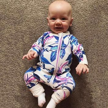 Children's Clothing Pajamas born Infant Baby Rompers Long Sleeve Overalls Boys Girls Spring Autumn Clothes