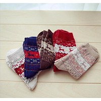 Fuzzy Warm Winter Collection Socks - 4 Colors