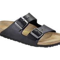 Love Birkenstock Arizona Natural Leather in Black (Classic Footbed - Suede Lined)