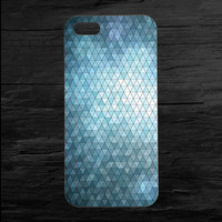 Super Triangle Blue Grid iPhone 4 and 5 Case