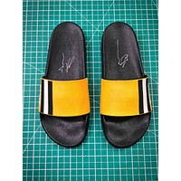 Bally Sandals Black Yellow Slipper - Sale