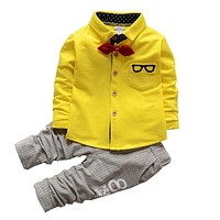 Spring autumn baby boys clothing sets children T shirts pants outfits suit kids Tracksuit set boys clothes