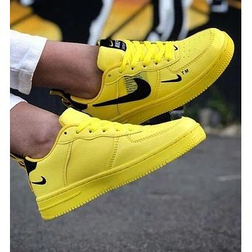 Air Force 1 07 Nike Lv8 Utility men and women casual fashion wild sports shoes Yellow