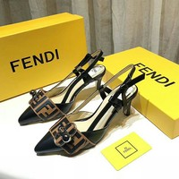 FENDI Fashion Women Slipper Boots Sandals High Heels Shoes Top Quality