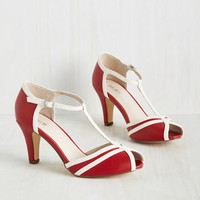 Earn Your Peep Heel in Crimson