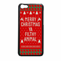 Merry Christmas Ya Filthy Animal iPhone 5c Case